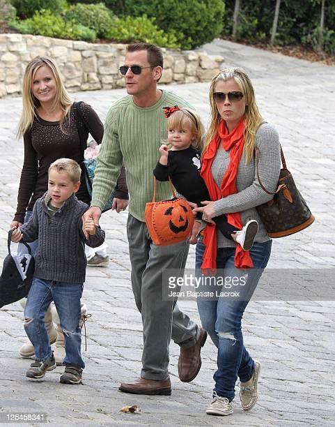Alison Sweeney Dave Sanov and their children Benjamin Sanov and Megan Sanov attend the Pottery Barn Kids' Halloween Carnival benefitting Operation...