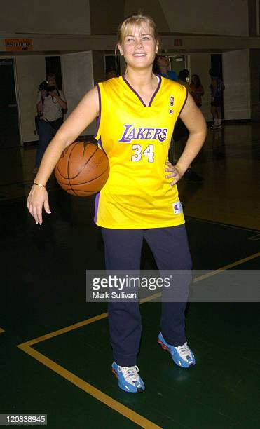 Alison Sweeney during 14th Annual Days of Our Lives Celebrity Basketball Tournament Benefiting Pasadena Ronald McDonald House at Blair High School in...