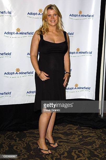 Alison Sweeney during 4th Annual AdoptAMinefield Gala at Century Plaza Hotel in Century City California United States