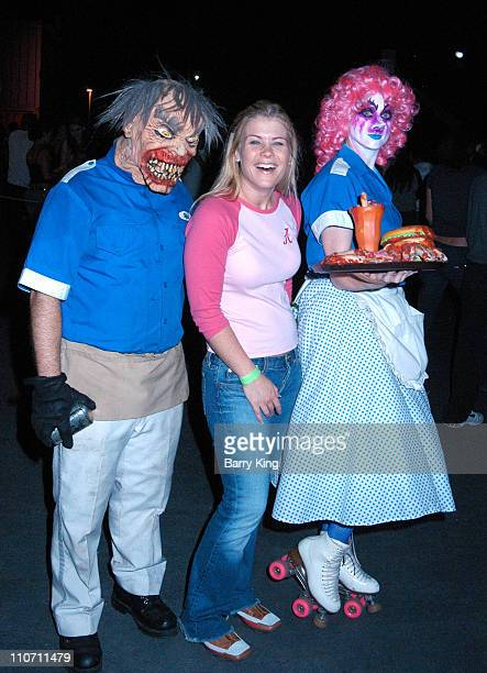 Alison Sweeney during Days Of Our Lives Stars Visit Knott's Berry Farms Halloween Haunt at Knott's Berry Farm in Buena Park California United States