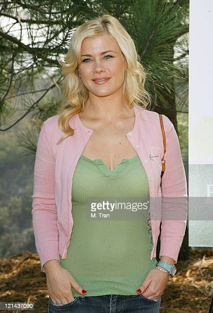 Alison Sweeney during EMA and E Entertainment Television Tree Planting Event April 4 2007 at Tree People's Headquarters in Coldwater Canyon Park in...