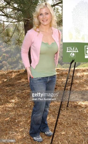 Alison Sweeney during Environmental Media Association and E Entertainment Television Tree Planting Event Arrivals at TreePeople Headquarters in Los...