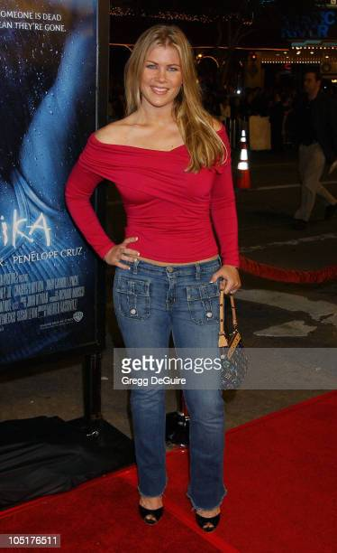 Alison Sweeney during Gothika Premiere Los Angeles at Mann Village Theatre in Westwood California United States