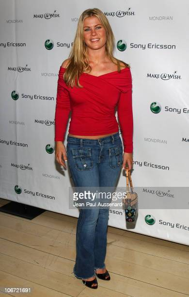 Alison Sweeney during Jessica Simpson and Nick Lachey Host Sony Ericsson T610/T616 Shoot for the Stars Charity Auction to Benefit The MakeAWish...