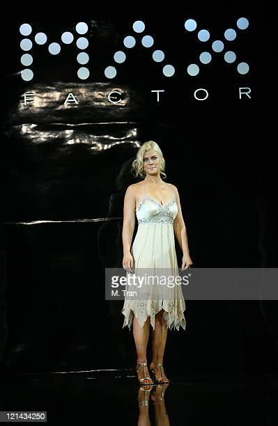 Alison Sweeney during Max Factor Salutes Hollywood Fashion Show at Social Hollywood in Los Angeles CA United States