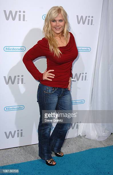 Alison Sweeney during Nintendo Launches Wii The Revolutionary Home Video Game Console Arrivals at BOULEVARD3 in Hollywood CA United States