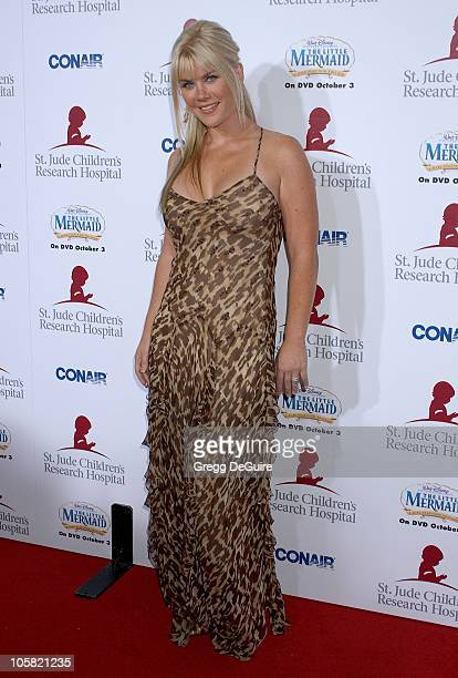 Alison Sweeney during Runway For Life Benefiting St Jude Children's Research Hospital Sponsored by Disney's The Little Mermaid DVD and The Conair...