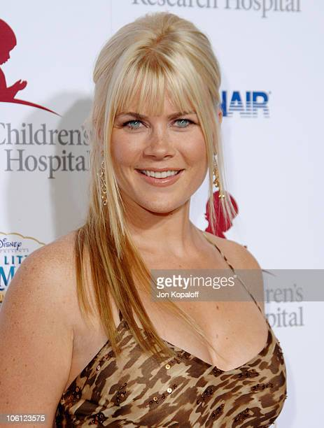 Alison Sweeney during Runway For Life Benefiting St Jude Children's Research Hospital Arrivals at Beverly Hilton in Beverly Hills California United...