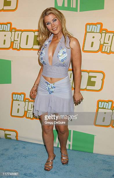 Alison Sweeney during VH1 Big In '03 Arrivals at Universal Amphitheater in Universal City California United States