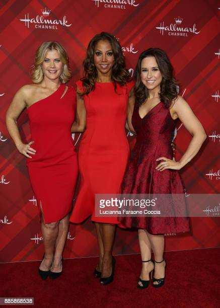 Alison Sweeney Holly Robinson Peete and Lacey Chabert attend Hallmark Channel's 'Countdown To Christmas' celebration and VIP screening of 'Christmas...