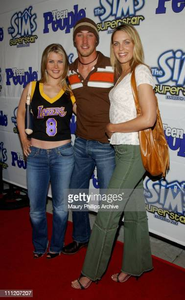 Alison Sweeney Kyle Lowder and Arianne Zucker during Teen People Celebrates The 6th Annual '25 Hottest Stars Under 25' at Lucky Strike Lanes in...