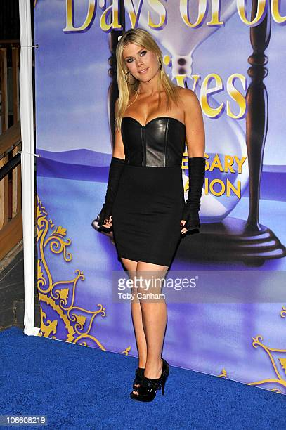 Alison Sweeney poses for a picture at the Days Of Our Lives 45th Anniversary Party held at The House Of Blues on November 6 2010 in West Hollywood...