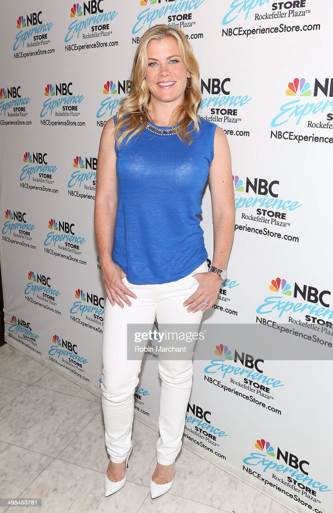 Alison Sweeney Signs Copies Of Her Book 'Scared Scriptless' at NBC Experience Store on June 3, 2014 in New York City.