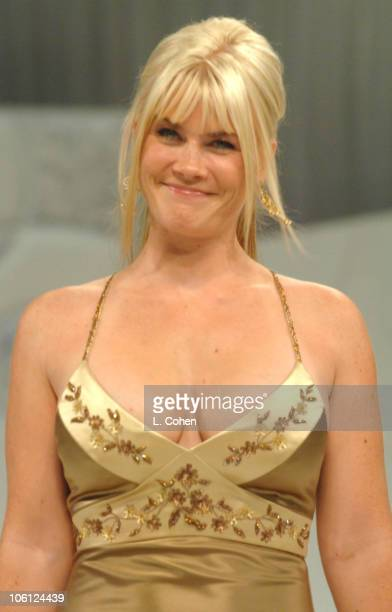 Alison Sweeney wearing Robert Ellis during Runway For Life Benefiting St Jude Children's Research Hospital Sponsored by Disney's The Little Mermaid...