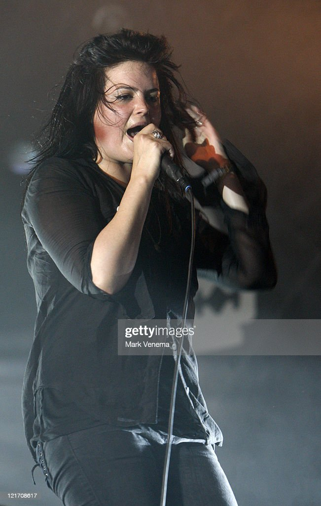 Alison VV Mosshart of The Kills performs on day three of Lowlands Festival on August 21, 2011 in Biddinghuizen, Netherlands.