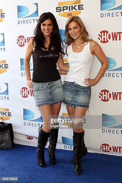 Alison Waite and Deanna Brooks of Playboy TV attend DIRECTV's 3rd Annual Celebrity Beach Bowl at Progress Energy Park Home of Al Lang Field on...
