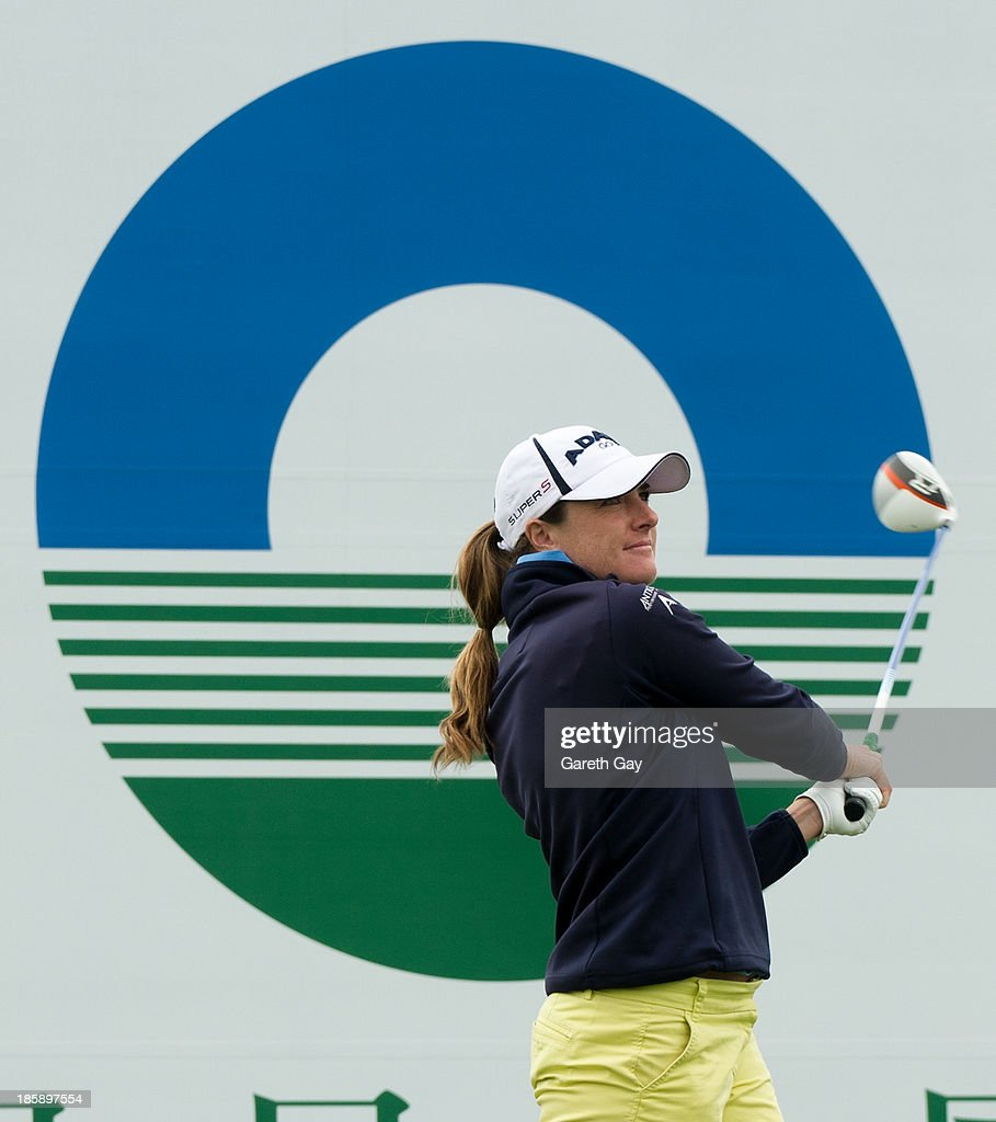 Alison Walshe of the USA tees off on the first hole, during day three of the Sunrise LPGA Taiwan Championship on October 26, 2013 in Taoyuan, Taiwan.