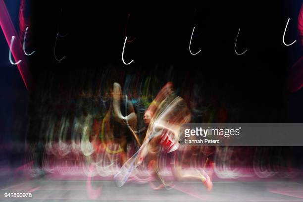Alison Waters of England plays a forehand during her Women's Singles Quarter Final squash match against Nicol David of Malaysia on day three of the...