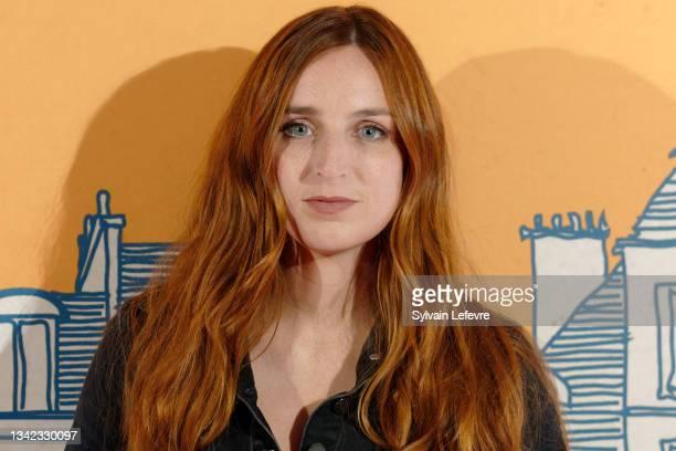 "Alison Wheeler attends the photocall for the premiere of ""8 rue de l'Humanité"" on September 24, 2021 in Vitry-en-Artois near Arras, France."