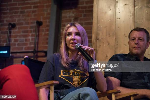 Alison Wonderland attends the sneak peek of her new stage show technology at Microsoft Lounge on August 1 2017 in Venice California