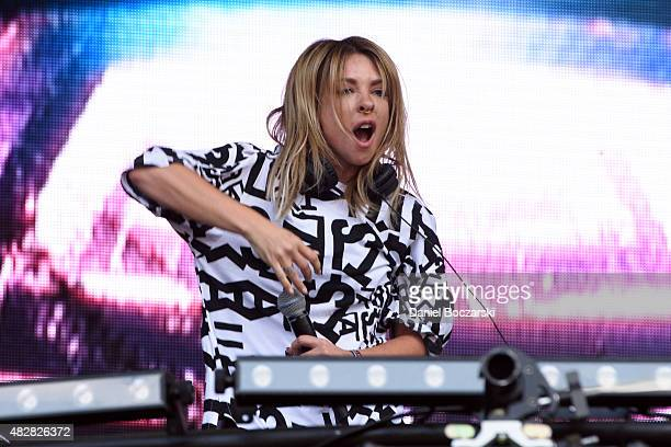 Alison Wonderland performs on stage during Lollapalooza 2015 at Grant Park on August 2 2015 in Chicago United States