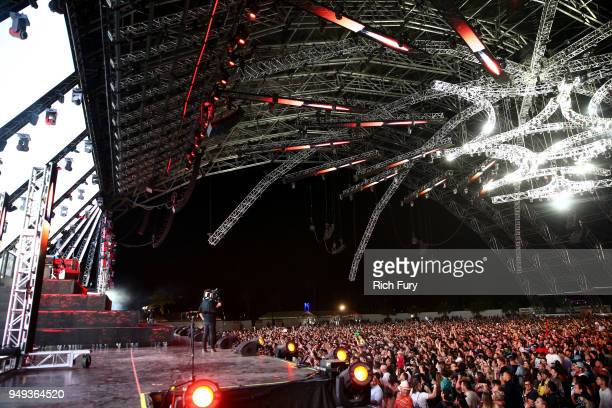 Alison Wonderland performs onstage during the 2018 Coachella Valley Music And Arts Festival at the Empire Polo Field on April 20 2018 in Indio...