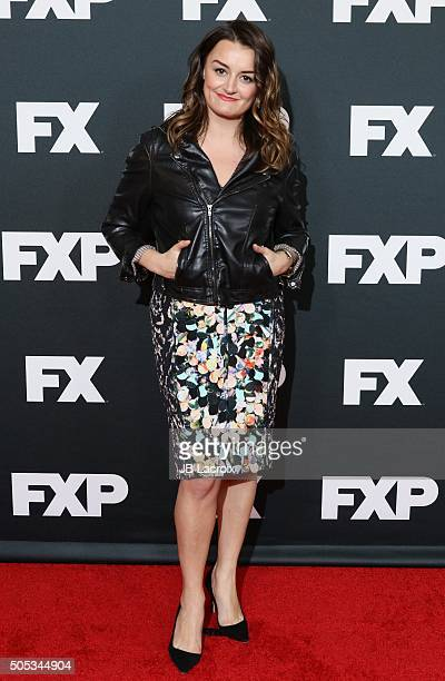 Alison Wright attends the FX TCA Winter Press Tour Panel TCA 2016 at the Langham Huntington Hotel on January 16 2016 in Pasadena California