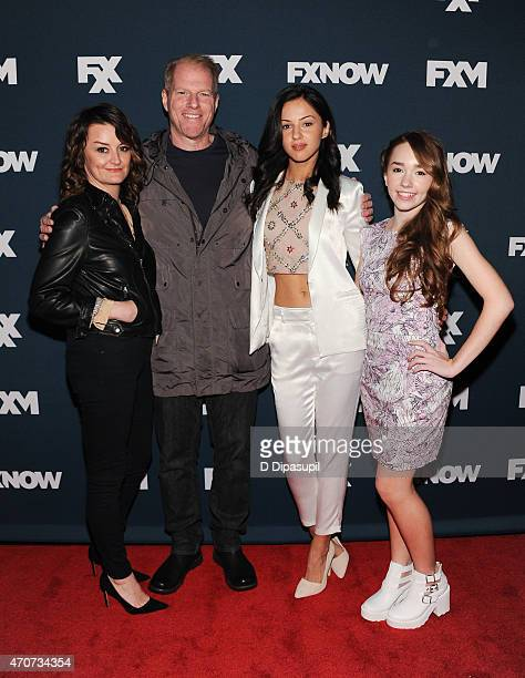 Alison Wright Noah Emmerich Annet Mahendru and Holly Taylor attend the 2015 FX Bowling Party at Lucky Strike on April 22 2015 in New York City