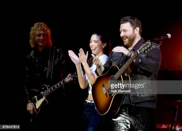 Alissa Czisny and Chris Young perform during the second annual 'An Evening Of Scott Hamilton Friends' hosted by Scott Hamilton to benefit The Scott...