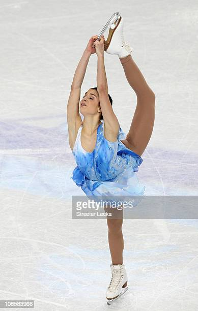 Alissa Czisny competes in the Championship Ladies Free Skate during the U.S. Figure Skating Championships at the Greensboro Coliseum on January 29,...