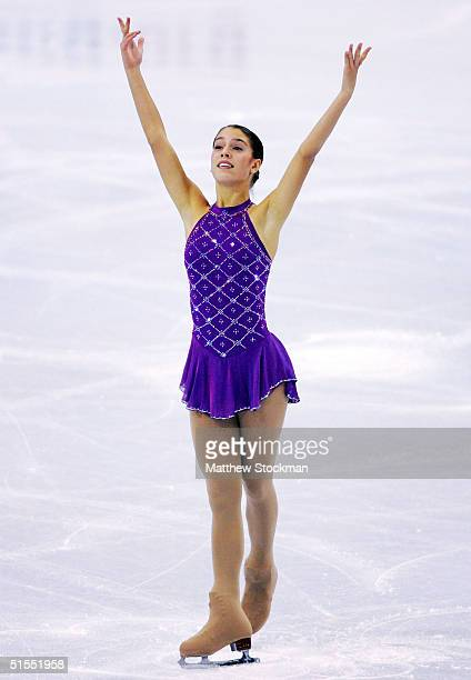 Alissa Czisny competes in the short program October 22 2004 during the Smart Ones Skate America at Mellon Arena in Pittsburgh Pennsylvania