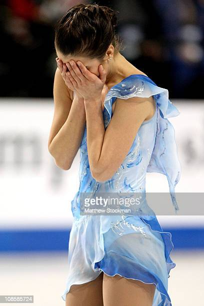 Alissa Czisny completes her routine in the Championship Ladies Free Skate during the U.S. Figure Skating Championships at the Greensboro Coliseum on...