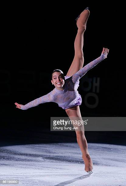 Alissa Czisny of USA performs during Festa on Ice 2009 at KINTEX on April 24 2009 in Goyang South Korea