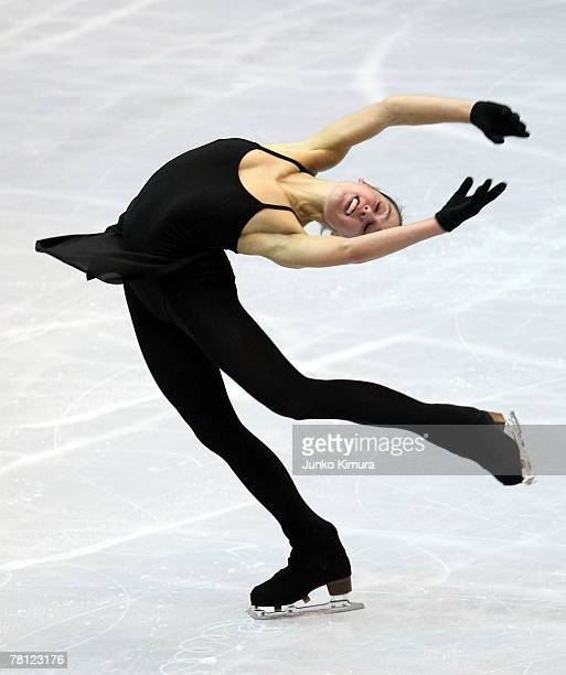 Alissa Czisny of USA skates during the official practice of the ISU Grand Prix of Figure Skating NHK Trophy at Sendai City Gymnasium on November 28,...