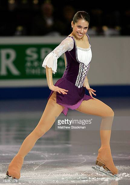 Alissa Czisny performs in an exhibition following the ISU Four Continents Figure Skating Championships February 10 2007 in Colorado Springs Colorado