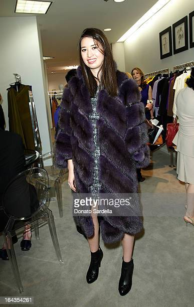 Alissa Fung and attend Saks Fifth Avenue presents designer Ralph Rucci at Saks Fifth Avenue Beverly Hills on March 22 2013 in Beverly Hills California