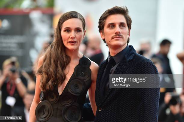 Alissa Jung and Luca Marinelli of Martin Eden walks the red carpet ahead of the closing ceremony of the 76th Venice Film Festival at Sala Grande on...