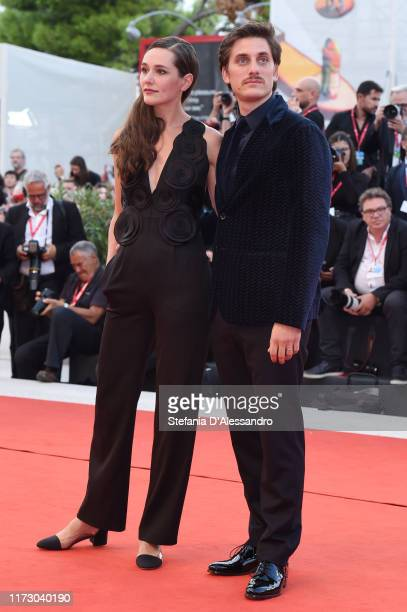 Alissa Jung and Luca Marinelli walk the red carpet ahead of the closing ceremony of the 76th Venice Film Festival at Sala Grande on September 07 2019...