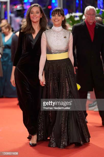 Alissa Jung and Member of the International Jury Berenice Bejo arrives for the closing ceremony of the 70th Berlinale International Film Festival...