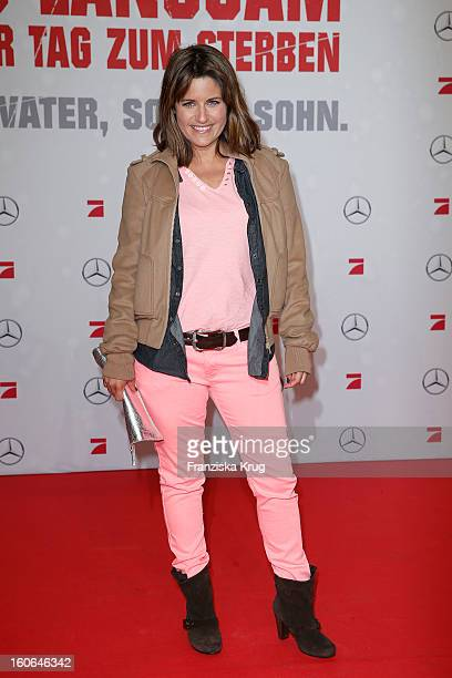 Alissa Jung attends the German premiere of 'Die Hard Ein Guter Tag Zum Sterben' at the cinestar Potsdamer Platz on February 4 2013 in Berlin Germany