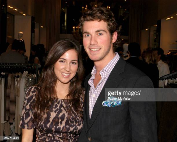 Alissa Micciulla and Matthew Douglas attend An Autumn Affair with the YOUNG PATRONS OF THE LOUVRE and ELIE TAHARI at Elie Tahari Boutique on November...
