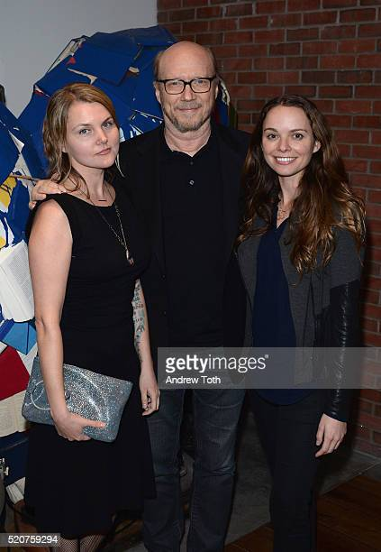 Alissa Sullivan and director Paul Haggis attend The Weinstein Company hosts the premiere Of 'Sing Street' after party at Hotel Indigo on April 12...