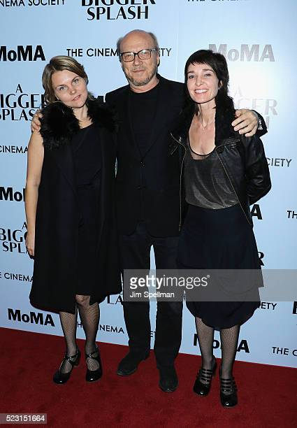 Alissa Sullivan Paul Haggis and Brynn Horrocks attend the screening of 'A Bigger Splash' hosted by Fox Searchlight Pictures with The Cinema Society...