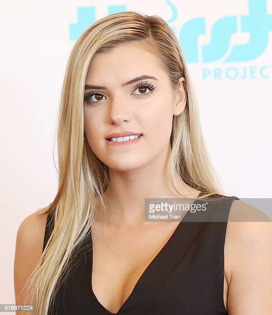 Alissa Violet attends the Thirst Project World Water Day press conference held at The Beverly Hilton Hotel on March 22 2016 in Beverly Hills...