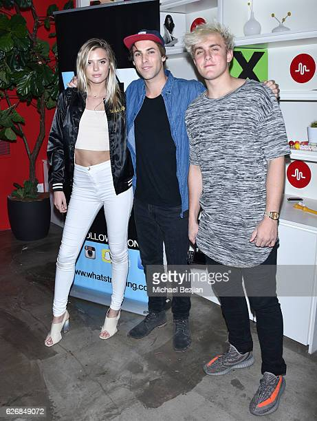 Alissa Violet TristanTales and Jake Paul at Musically And What's Trending Host To Benefit The Pablove Foundation at Musically HQ on November 30 2016...