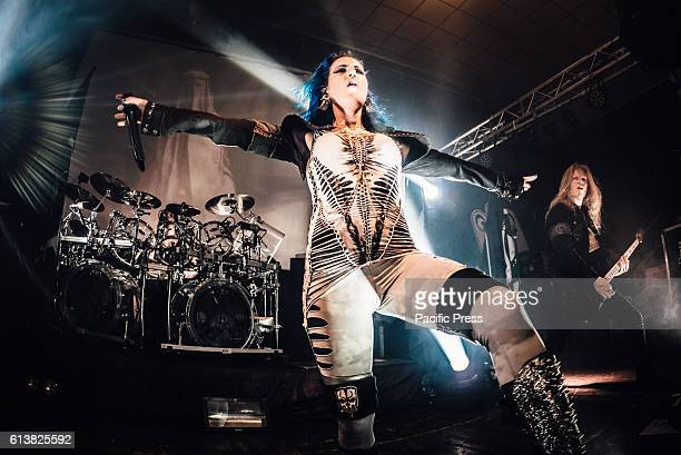 CLUB MONCALIERI TORINO ITALY Alissa WhiteGluz and Jeff Loomis of Arch Enemy performing live on stage at the Audiodrome Live club for their 'War...