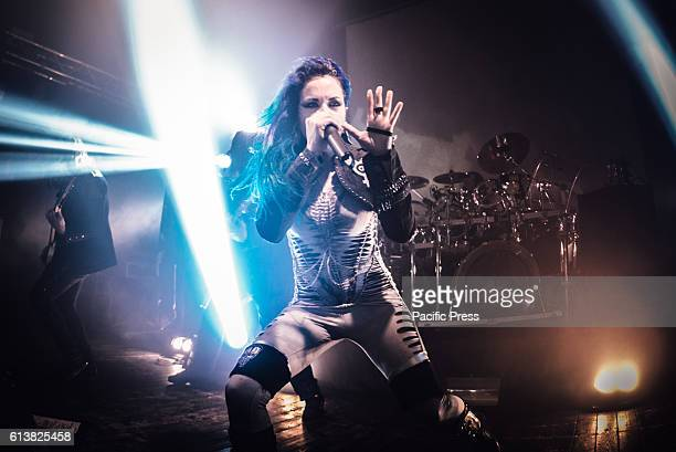 CLUB MONCALIERI TORINO ITALY Alissa WhiteGluz of Arch Enemy performing live on stage at the Audiodrome Live club for their 'War Eternal' tour 2015...