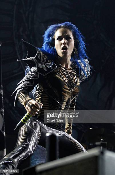 Alissa WhiteGluz of Arch Enemy performs at Wembley Arena on December 19 2015 in London England