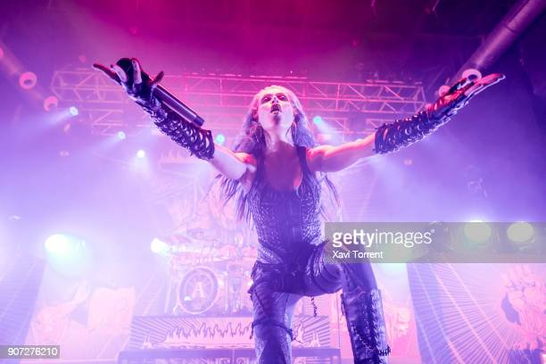 Alissa WhiteGluz of Arch Enemy performs in concert at Razzmatazz during Route Resurrection on January 19 2018 in Barcelona Spain