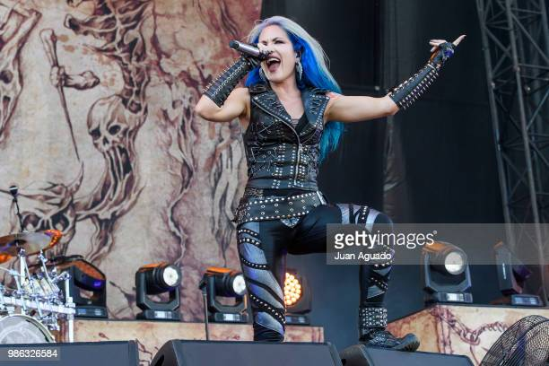 Alissa WhiteGluz of the band Arch Enemy performs on stage during Day 1 of the Download Festival on June 28 2018 in Madrid